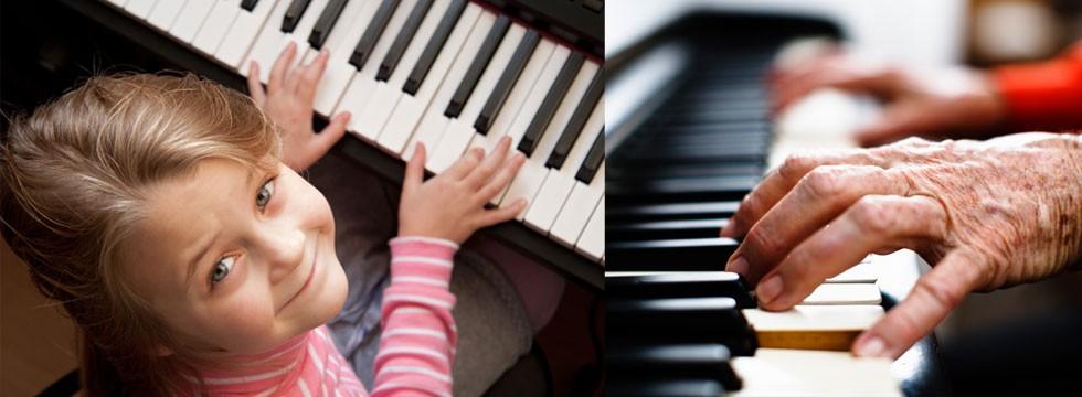 Pianoles voor jong en oud